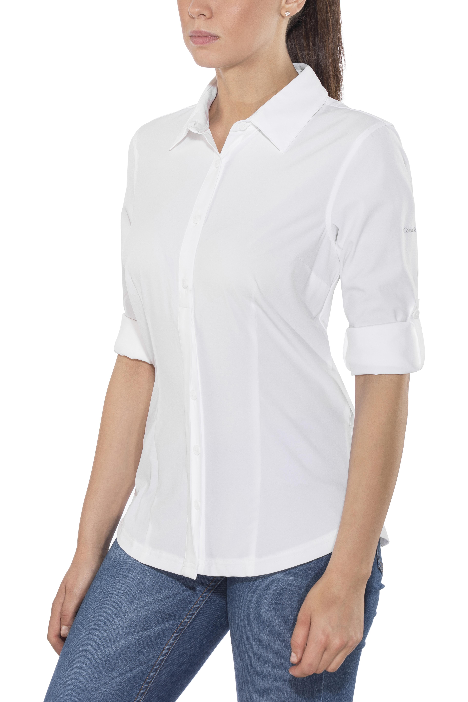1915be3bb3122 Columbia Saturday Trail - Camiseta de manga larga Mujer - blanco ...